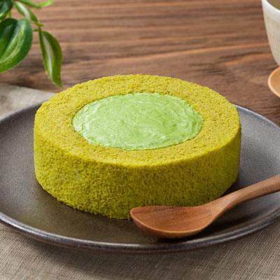 【熟成抹茶】プレミアム熟成宇治抹茶のロールケーキ